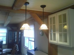 Services include kitchen lighting
